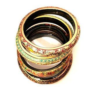 Hand Painted Bangle Bracelets